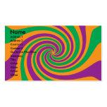 Remolino anaranjado verde púrpura tarjetas de visita