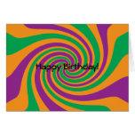 Remolino anaranjado verde púrpura tarjetas
