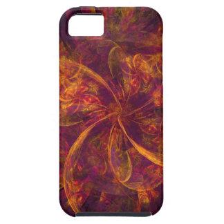 Remolino anaranjado y púrpura del fractal iPhone 5 Case-Mate funda