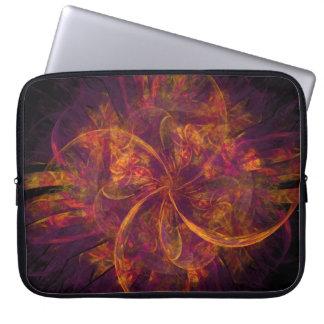 Remolino anaranjado y púrpura del fractal fundas portátiles