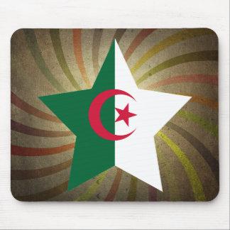 Remolino argelino de la bandera del vintage alfombrilla de raton