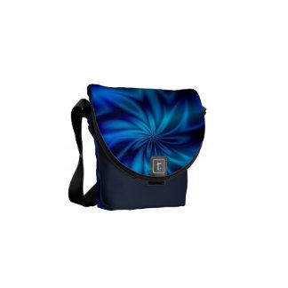 Remolino azul bolsa de mensajería