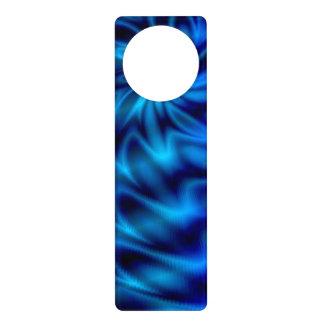 Remolino azul colgantes para puertas