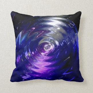 Remolino azul de la onda del arte abstracto cojín