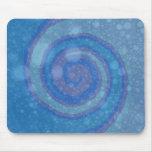Remolino azul del arte abstracto alfombrillas de raton