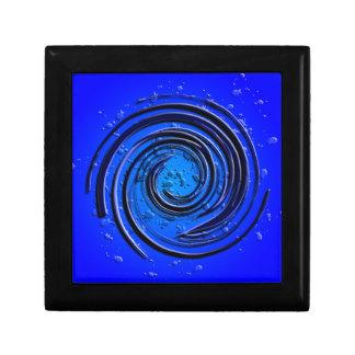 Remolino azul del huracán caja de recuerdo