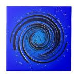 Remolino azul del huracán teja  ceramica