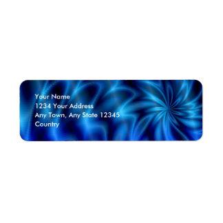 Remolino azul etiqueta de remitente