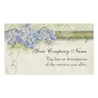 Remolino azul floral de las flores del Hydrangea Tarjetas De Visita