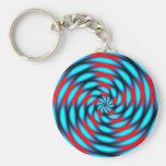 Remolino azul rojo del fractal llavero