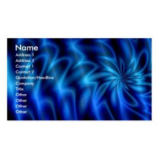 Remolino azul tarjetas de visita
