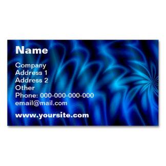 Remolino azul tarjetas de visita magnéticas (paquete de 25)