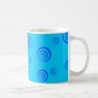remolino azul taza clásica