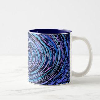 remolino azul taza de dos tonos