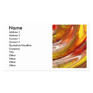 Remolino blanco amarillo-naranja del extracto de tarjetas de visita