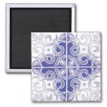 Remolino blanco azul inspirado por el portugués Az Imán Para Frigorifico