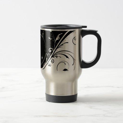 remolino blanco negro tazas de café