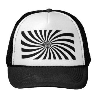 Remolino blanco y negro móvil de la ilusión óptica gorro