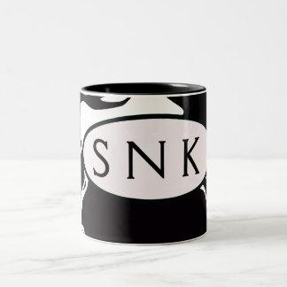 Remolino blanco y negro taza de dos tonos