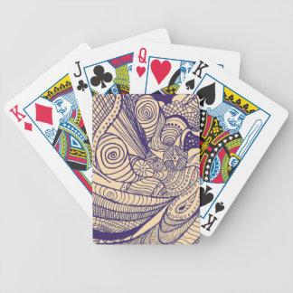 Remolino bohemio barajas de cartas