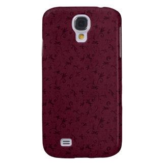 Remolino Borgoña del vintage de 3 Pern Funda Para Galaxy S4