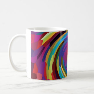 Remolino brillante de los colores del diseño abstr taza básica blanca