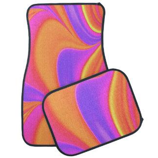 Remolino brillante enrrollado del color alfombrilla de auto