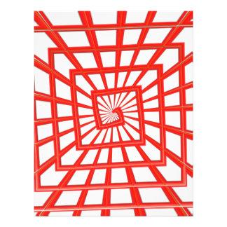 remolino brillante rojo flyer personalizado