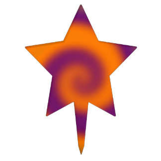 Remolino circular púrpura anaranjado maravilloso figuras para tartas