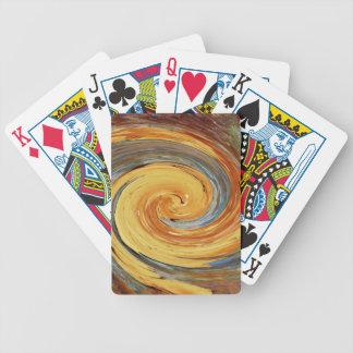 Remolino - colores del moho/del Rost-Arte Cartas De Juego