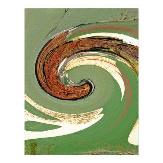 Remolino - colores del moho/del Rost-Arte Plantilla De Membrete