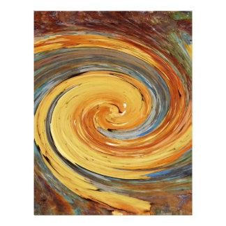 Remolino - colores del moho/del Rost-Arte Plantillas De Membrete