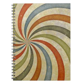 Remolino colorido del art déco de la diversión cuadernos