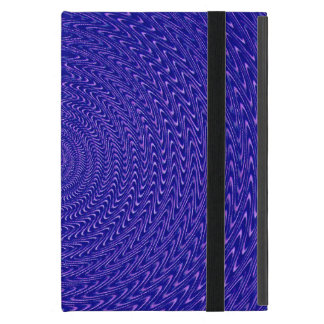 Remolino de color morado oscuro iPad mini carcasa