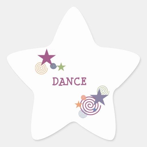 Remolino de la danza pegatina forma de estrella personalizada