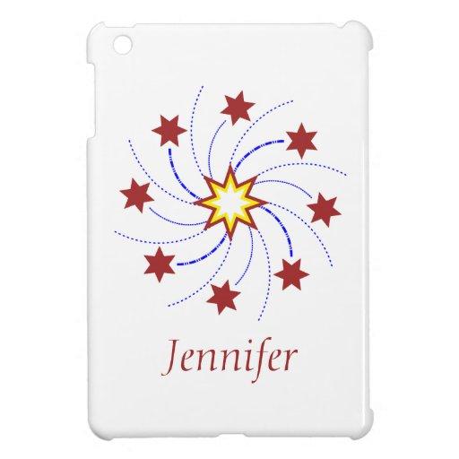 Remolino de la estrella de los fuegos artificiales iPad mini carcasas