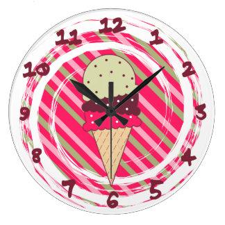 Remolino de la fresa del helado relojes