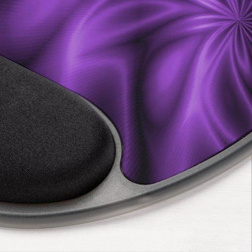 Remolino de la lila alfombrillas con gel