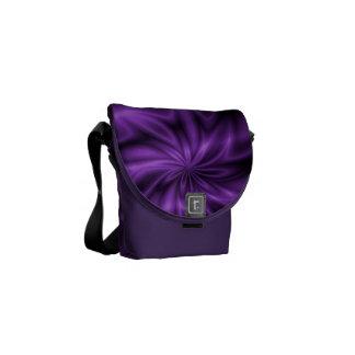 Remolino de la lila bolsas de mensajeria