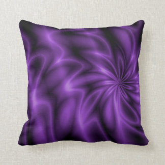 Remolino de la lila cojín decorativo