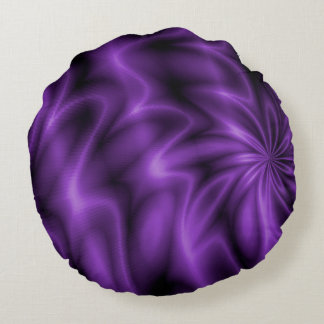Remolino de la lila cojín redondo