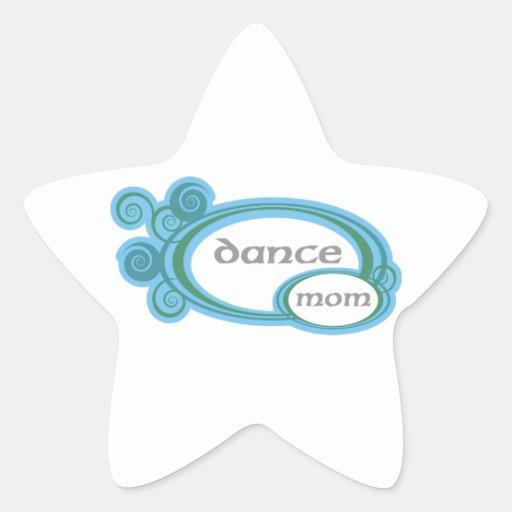 Remolino de la mamá de la danza calcomanías forma de estrellaes personalizadas