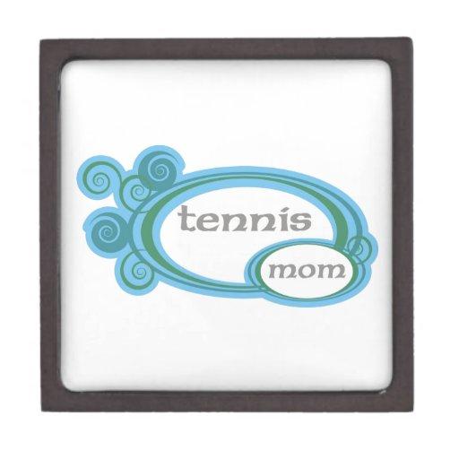 Remolino de la mamá del tenis caja de joyas de calidad