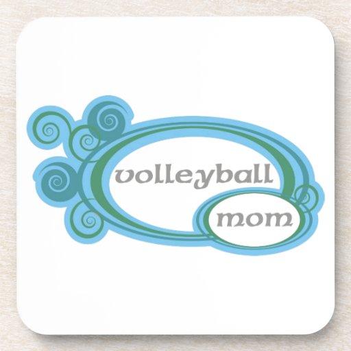 Remolino de la mamá del voleibol posavasos de bebida