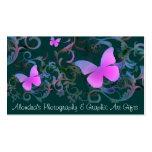 Remolino de la mariposa (verde) tarjeta personal