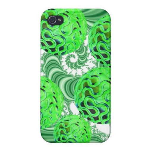 Remolino de la menta verde, modelo verde abstracto iPhone 4/4S funda