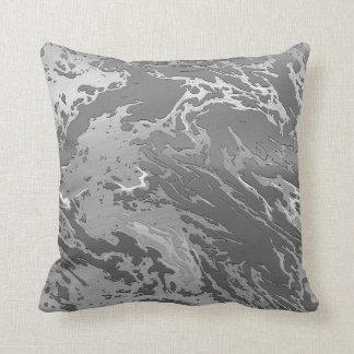 remolino de la plata del arte del metal almohada