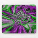Remolino de la púrpura y del verde tapetes de raton