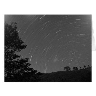 Remolino de las estrellas en el cielo tarjeta de felicitación grande