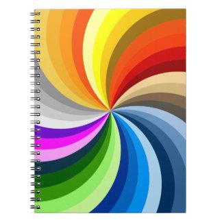 Remolino de los colores libreta espiral